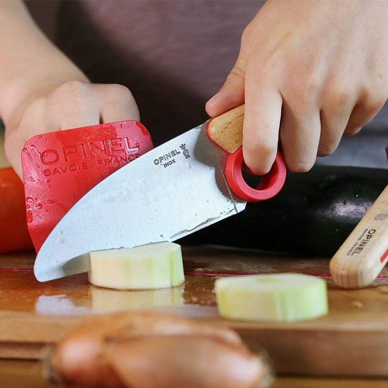 Set de cuchillo de cocina y protector de dedo para ni/ño Opinel